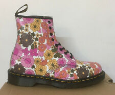 DR. MARTENS 1460 PINK ROSE VINTAGE DAISY  LEATHER  BOOTS SIZE UK 9