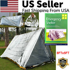 Emergency TENT Survival Folding Camping Rescue Reflective Shelter Blanket Bag