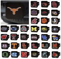 NCAA Teams - Heavy Duty 3-D Color Emblem Black Metal Hitch Cover