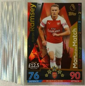 TOPPS Match Attax 2018/19 EPL Man of the Match CARD Singles UK EDITION choose
