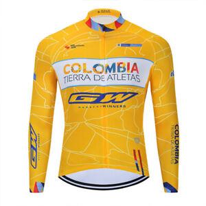 2021 Man Cycling Jersey Clothes  Bib Pants Set Long Sleeve 3D Pad Bike Riding