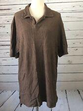 Ralph Lauren Polo Mens Brown short sleeve Shirt Golf XL Extra Large