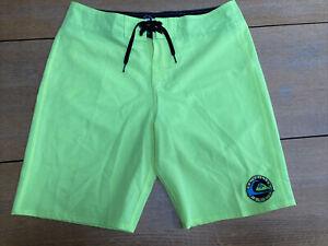 Quiksilver Neon Yellow Board Shorts W34