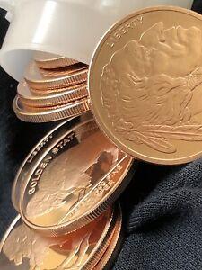 Lot Of 20 Rounds 1/2oz 999 Fine Copper Indian Head + Bonus 1oz Wall Street Bets