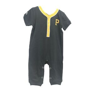 Pittsburgh Pirates Official MLB Majestic Baby Infant Size Creeper Bodysuit New