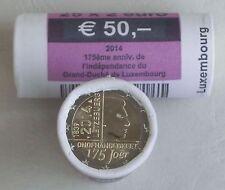 """1 papel/25x2 euro Luxemburgo 2014"""" 175 años de independencia """"unz"""