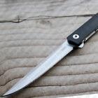 CRKT CEO Flipper 7097 Folding Knife By Richard Rogers Low Profile Plain Edge GRN