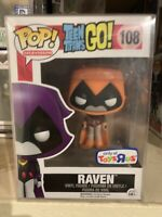 Funko Pop! Raven Orange Toys R Us Exclusive Teen Titans Go! *NEW *Protector