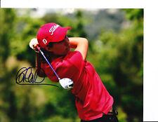 LPGA SUPERSTAR CARLOTA CIGANDA SIGNED RED SHIRT 8X10