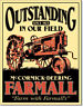 Farmall Tractors Outstanding Since 1923 Vintage Retro Tin Metal Sign 13 x 16in