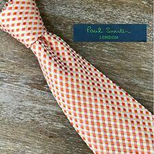Paul Smith London Men's 100% Silk Multi-Color Geometric Designer Luxury NeckTie