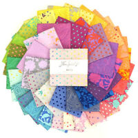"""Free Spirit Tula Pink True Colors 5"""" charm pack Cotton Quilting Fabric"""