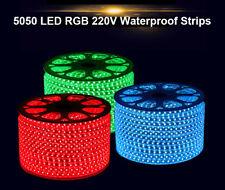 10m-100m 5050 RGB LED Strip Light  Main Voltage 240V Waterproof IP67 +Controller