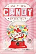 Candy Sweet Shop Bubble Gum Machine Classic Retro Medium 3D Metal Embossed Sign