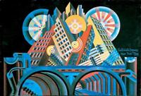Skyscrapers and Tunnels : Fortunato Depero : Circa 1915 : Art Print for Framing