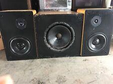 Vintage Speaker Set With Night Stalker 1240psw,morel Mw220 and Peerless 81546