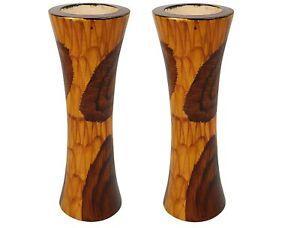 Flower Vase Flower Pot for Artificial Flowers Wooden Vase Pack of 2 US