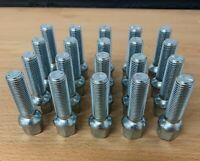 20 x alloy wheel bolts nuts lugs M14 x 1.5 17mm Hex 40mm thread Radius Seat Audi