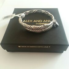 Alex And Ani New Day ROLLING HILLS Bangle Bracelet NWT BOX RARE Retired Silver