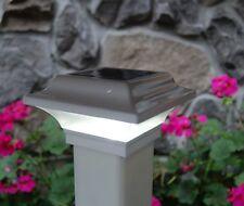 2X2 WHITE ALUMINUM IMPERIAL SOLAR POST CAP LED DECK FENCE LIGHTS 10 PACK