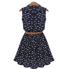 Women Summer Casual Sleeveless Evening Party Beach Dress Short Mini Dress S-XL