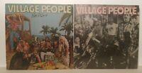The Village People Lot Go West & Self Titled Used Original LP 33 Album Vintage