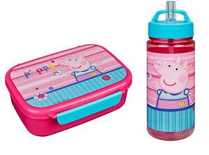Peppa Pig Sandwich Box and Drinks Bottle Blue
