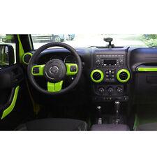 10pcs Car Interior Parts Decoration Inner Dashboard Trim For Jeep Wrangler #L