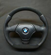 FLAT BOTTOM STEERING WHEEL BMW E36 E46 Z3 ! ALCANTARA+ LEATHER