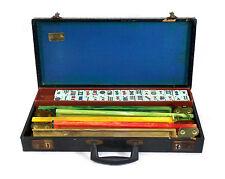 Vintage Majong Game Set W 5 Bakelite Trays  Marbleized Swirl 152 Pieces 0011010