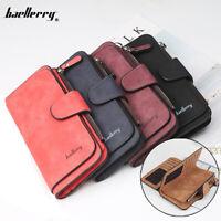 Baellerry Women Clutch Leather Wallet Long Purse Card Holder Coin Zipper Handbag