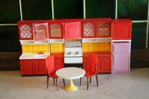Vtg. Lundby Kitchen Doll House Furniture