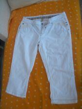 Damen Sommer Hose Jeans Jeanshose Bermudas Stoff weiss Marke Vero Moda Gr 42 TOP