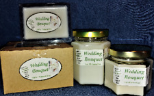 **NEW** Hand Poured Floral Scents Soy Candles, Tarts & Votives - Wedding Bouquet