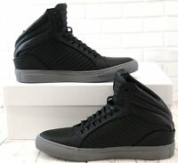 Cipher Libertine Matt Black Grey Men's High Top Lace-Up Trainers Sneakers
