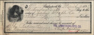 1895 Bridgeport Connecticut (CT) Company Bill James Staples And Co Perkins And C