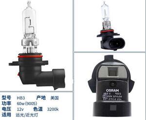 2 Pcs HB3 12V 60W Universal Automobile Front Head Light Bulb