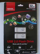 Toshiba TransMemory USB 2.0 Flash Drive 32GB, 2-pack