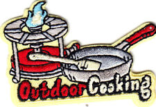 """""""OUTDOOR COOKING"""" Iron On Patch Food Baking Grilling  BBQ"""