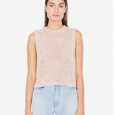 NWOT American Apparel Knit Tank Sleeveless Top in Dirty Blush Pink Size M/L