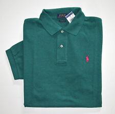 NWT Men's Ralph Lauren Short-Sleeve Polo Shirt Dark Green, Classic Fit, L, Large