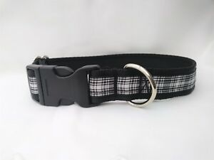 Menzies tartan black and white scottish dog collar or lead or complete set
