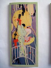 "Delightful Vintage ""It's The Vogue"" Bridge Set w/ Masquerade Clowns & Mandolin *"