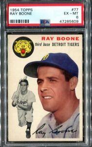 1954 Topps #77 Ray Boone PSA 6 (no trade statement)
