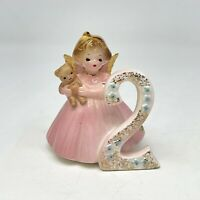 Vintage Josef Originals Birthday Girls Angel 2 Year Old Figurine