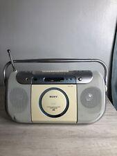 Sony Cfd - E100 Cd Radio Am/Fm Cassette Recorder Player Boombox