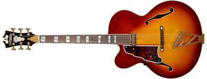 D'Angelico Excel EXL-1 Left-Handed Hollow Body Guitar - Iced Tea Burst