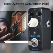 MOOER BLUES CRAB Blues Overdrive Guitar Effect Pedal True Bypass Full Metal X1G9