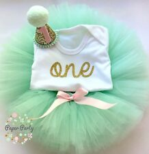 Mint/Pink Cake Smash/1st Birthday Outfit