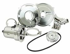 Chrome 75 Amp Alternator Conversion Kit w/ Pulley & Belt, VW Beetle Bug Bus Ghia
